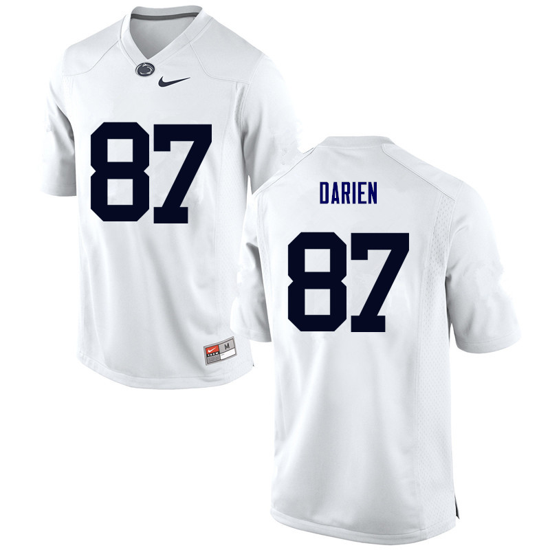 Men Penn State Nittany Lions #87 Dae'lun Darien College Football Jerseys-White